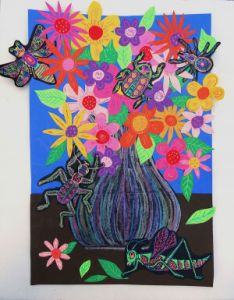 Getting Buggy! Create a Creepy-Crawly Floral Still Life Collage