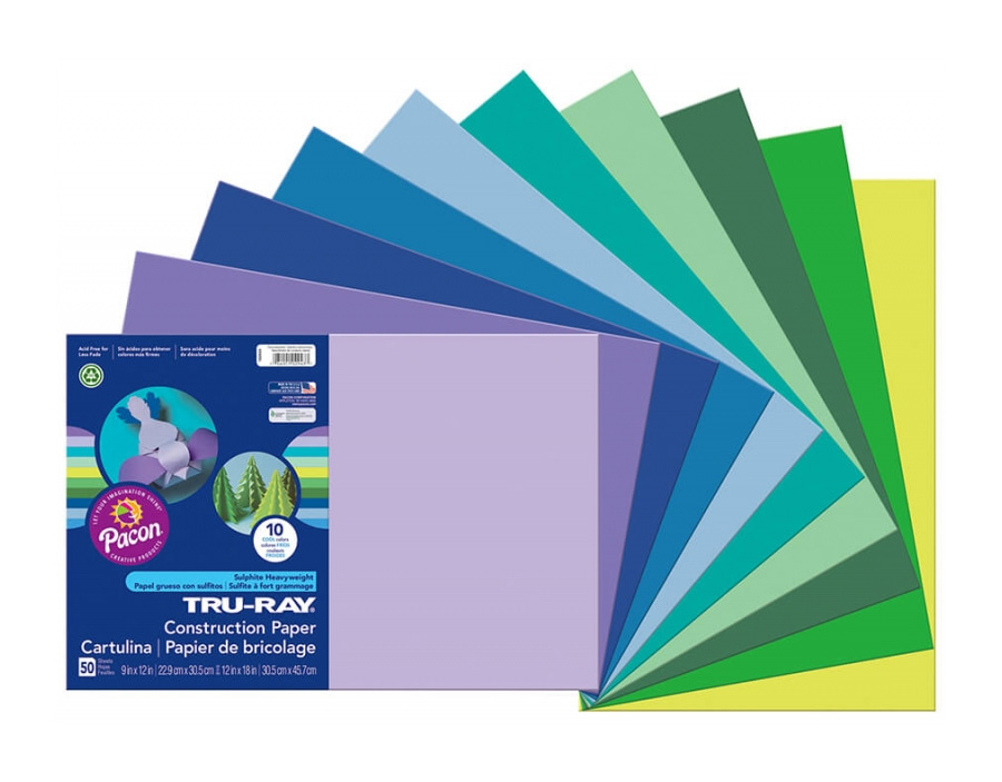 "<h1 style=""text-align: center;"">Tru-Ray<sup>®</sup> Construction Paper in Assorted Cool Colors</h1>"