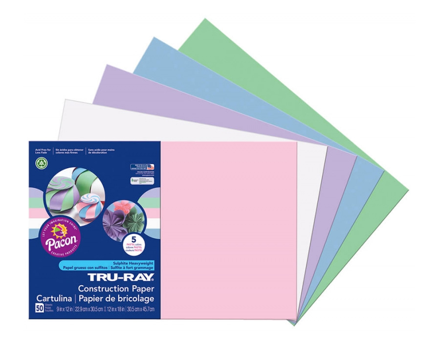 "<h1 style=""text-align: center;"">Tru-Ray<sup>®</sup> Construction Paper in Assorted Pastel Colors</h1>"