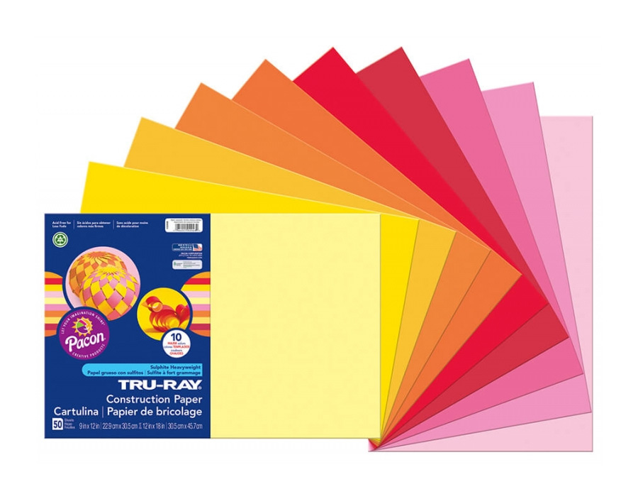 "<h1 style=""text-align: center;"">Tru-Ray<sup>®</sup> Construction Paper in Assorted Warm Colors</h1>"